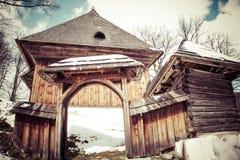 Wooden church. At Lestiny, Slovakia stock photography