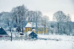beautiful landscape in winter day Stock Photography