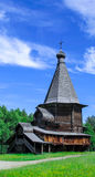 Wooden church. Located in the heart of russian forest Royalty Free Stock Image