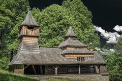 Wooden church in Lukov - Venecia, Slovakia Stock Photo