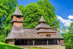 Wooden church in Lukov - Venecia, Slovakia Royalty Free Stock Photo