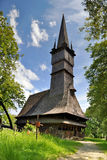 Romania Wooden Church in Maramures. Wooden church from Surdesti, Maramures, Romania. UNESCO World Heritage stock images