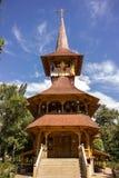 Wooden church from Maramures in Soroca, Moldova. Traditional wooden church from Maramures county, in Soroca city Moldova Royalty Free Stock Photo