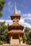 Wooden church from Maramures in Soroca, Moldova. Traditional wooden church from Maramures county, in Soroca city Moldova Stock Photo