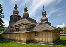 Wooden church in Mirola Royalty Free Stock Photo