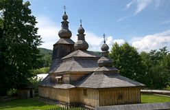 Wooden church in Mirola Stock Image