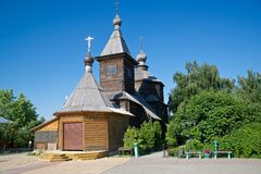 Wooden church in Murom Stock Images