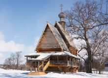 Wooden church Nikola's Stock Images