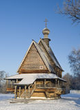 Wooden church Nikola's in Russia Suzdal in winter Royalty Free Stock Photos
