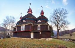 Wooden church, Nizny Komarnik, Slovakia Stock Photos