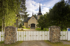 Wooden church. In northern Finland royalty free stock images