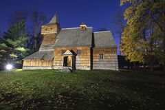 Free Wooden Church Of St. Martin In Grywald Royalty Free Stock Photography - 174455577
