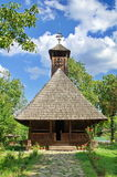 Old traditional orthodox wooden church - Landmark  in Maramures, Romania. UNESCO World Heritage Royalty Free Stock Photography