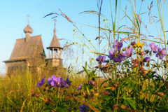Free Wooden Church On The Top Of The Hill. Vershinino Village Sunset View. Arkhangelsk Region, Northern Russia. Royalty Free Stock Photos - 85356218