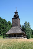 Wooden church one cupola. Ancient slavic wooden church with one cupola Stock Images