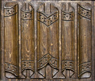 Wooden church panel. Close-up of a 15th century wooden church panel Royalty Free Stock Photo