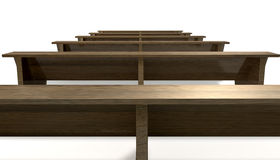 Wooden Church Pews Royalty Free Stock Images