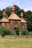 Wooden Church In Pirogovo. Kyiv, Ukraine, taken in July 2009 Stock Photo