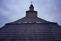 Wooden church roof Royalty Free Stock Photo
