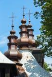 Wooden church roof Stock Photos