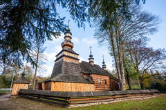 Wooden church in Ropica Gorna, Poland Royalty Free Stock Image