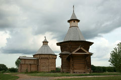 Wooden church, Russia. Wooden churches, it is photographed in Russia Royalty Free Stock Photography