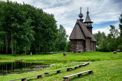 Wooden church in Russia. Stock Images