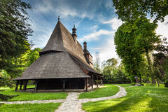 Wooden church in Sekowa, Poland Royalty Free Stock Images