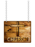 Wooden Church sign. Stock Photography