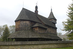 Wooden church Skansen open air muzeum, Sanok Royalty Free Stock Image