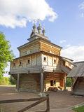 The wooden church of St. George of the XVII century, Kolomenskoye, Moscow Stock Image