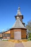 Wooden church of St. Sergius of Radonezh in Holy Trinity monastery in Murom. Golden ring of Russia Stock Images