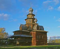 Wooden church in the Suzdal museum. Royalty Free Stock Image