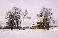 Wooden church in Suzdal, Russia Stock Photo