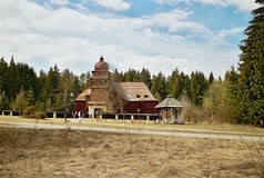 Wooden church in Svaty Kriz, Slovakia Royalty Free Stock Image