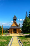 Wooden church in Tatra mountains. 6 JULY 2016, ZAKOPANE, POLAND . Stock Image