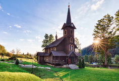 Wooden church, Tatranska Javorina, High Tatra Mountains, Western Royalty Free Stock Image