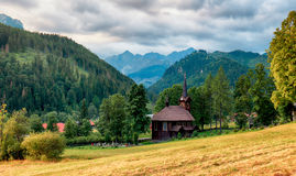 Wooden church, Tatranska Javorina, High Tatra Mountains, Western Stock Photos