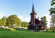 Wooden church, Tatranska Javorina, High Tatra Mountains, Western Stock Image