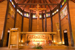 Wooden church in Thailand Stock Photography