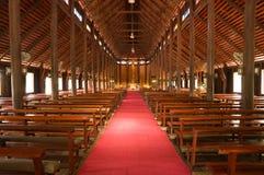 Wooden church in Thailand Stock Photos