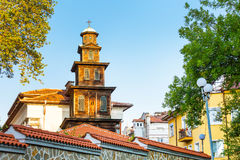 Wooden church tower in Plovdiv city, Bulgaria Royalty Free Stock Photography