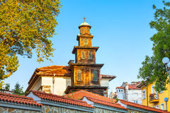 Wooden church tower in Plovdiv city, Bulgaria Royalty Free Stock Images