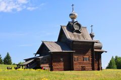 Wooden Church of Transfiguration. Royalty Free Stock Photo