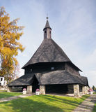 Wooden church in Tvrdosin, Slovakia stock photo