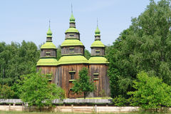 Wooden Church in Ukraine Royalty Free Stock Photo