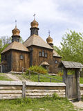 Wooden church, Ukraine Royalty Free Stock Images