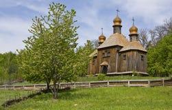 Wooden church, Ukraine. Stock Photo