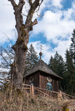 Wooden church at village Cierny Vah, Slovakia Royalty Free Stock Photos