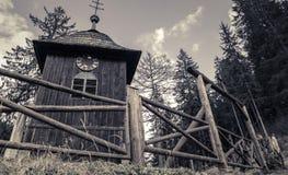 Wooden church at village Cierny Vah, Slovakia Stock Photos